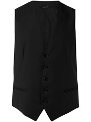 Tagliatore Formal Waistcoat Men Cupro Virgin Wool 52 Black