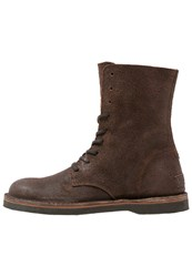 Shabbies Amsterdam Laceup Boots Dark Brown