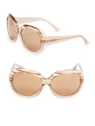 Halston 59Mm Graphic Butterfly Sunglasses Taupe