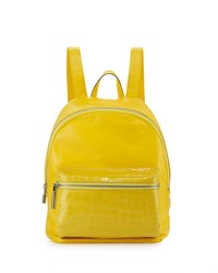 Elizabeth And James Cynnie Crocodile Embossed Leather Backpack Sun