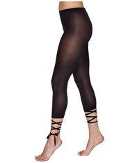 Wolford Lace Up Capris Black Women's Capri