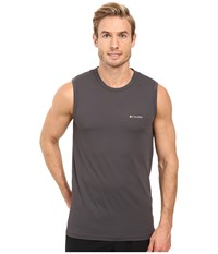 Columbia Performance Mesh Muscle T Shirt Forged Iron Men's Sleeveless Taupe