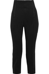 Y 3 Adidas Cropped Zip Detailed Jersey Track Pants Black