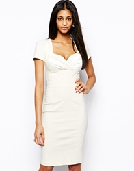 Hybrid Pencil Dress With Sweetheart Neck