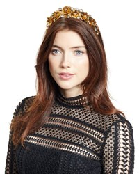 Jennifer Behr Magdalena Rose Crown Circlet Crystal Gold Crystal Gold