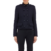 Gabriela Hearst Military Inspired Double Breasted Jacket Navy