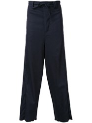 Chapter Loose Fit Pinstriped Trousers Black