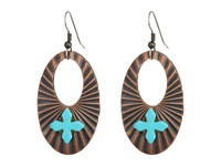 Kender West E 217 Copper Turquoise Earring Multi
