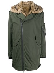 Zadig And Voltaire Oversized Parka Coat Green