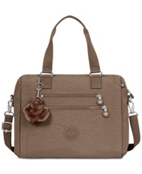 Kipling Bevine Medium Satchel Soft Earthy Beige