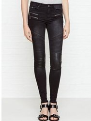 Karl Lagerfeld Denim Biker Pant Black