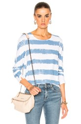 Rag And Bone Jean Washed Stripe Long Sleeve Tee In Blue Stripes White Blue Stripes White