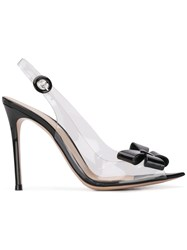 Gianvito Rossi Bow Embellished Slingback Pumps Black