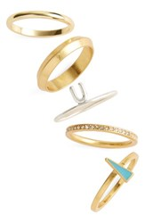 Madewell Women's Set Of 5 Stackable Rings Mixed Metal