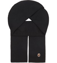 A Bathing Ape One Knitted Wool Scarf Black