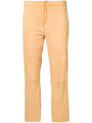 Dolce And Gabbana Vintage 2000'S Cropped Trousers Neutrals