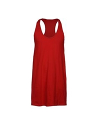 American Apparel Sleeveless T Shirts Brick Red