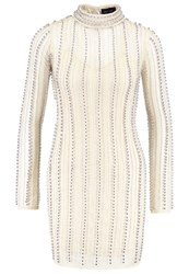 Missguided Cocktail Dress Party Dress Silver Nude