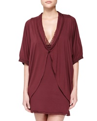 La Perla Pizzo Short Sleeve Coverup Robe