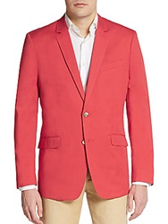 Ben Sherman Cotton Sportcoat Red