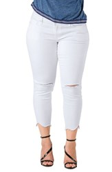 Standards And Practices Plus Size Women's Tessa Chewed Hem Stretch Skinny Jeans