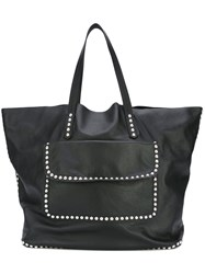 Dsquared2 Studded Shopper Tote Men Calf Leather One Size Black