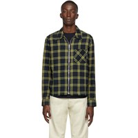 Paul Smith Ps By Navy And Green Zip Shirt Jacket