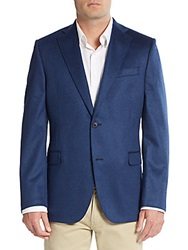 Saks Fifth Avenue Slim Fit Solid Cashmere Sportcoat Denim
