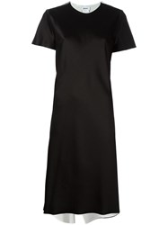 Dkny Reversible Satin Dress Black