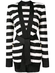 Balmain Structured Shoulder Cardigan Black