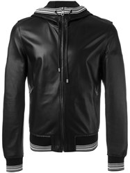 Dolce And Gabbana Sports Trim Hooded Jacket Black