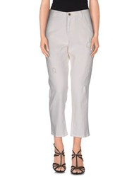 Pence Denim Denim Capris Women White