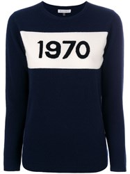 Bella Freud Intarsia Knit Jumper Blue