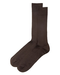 The Men's Store At Bloomingdale's Ribbed Cotton Blend Socks Brown