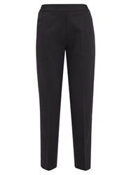 Etro Satin Trimmed Wool Blend Cropped Trousers Black