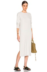 Helmut Lang Cashmere Tunic In Gray