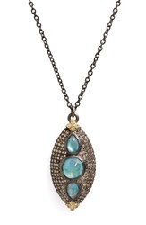 Armenta Women's Old World Opal And Diamond Pendant Necklace