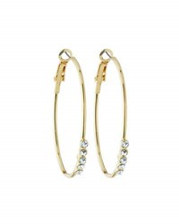 Fragments For Neiman Marcus Crystal Hoop Earrings Clear