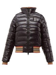 Burberry Icon Stripe Detachable Sleeve Down Jacket Black Multi