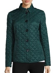 Burberry Ashurst Diamond Quilted Jacket Racing Green