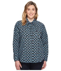 Roper Plus Size 1269 Formation Paisley Black Women's Long Sleeve Pullover
