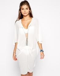 Max C London Max C Embeliished Caftan White