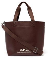 A.P.C. Eddy Leather Tote Bag Brown