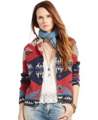 Denim And Supply Ralph Lauren Shawl Cardigan Blue Multi