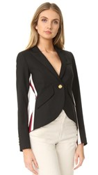 Smythe Racing Stripe Blazer Black Red White