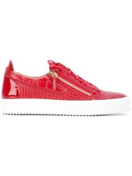 Giuseppe Zanotti Design 'Frankie' Low Top Sneakers Red