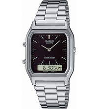 Casio Aq230a1dmqyes Unisex Stainless Steel Watch Silver