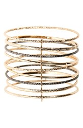 Women's Topshop Etched Bangles Gold Multi Set Of 9