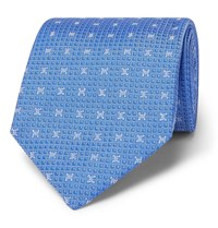 Dunhill 8Cm Mulberry Silk Jacquard Tie Blue