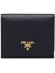 Prada Small Leather Wallet Black